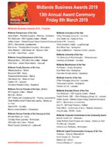 Midlands Business Awards Finalists