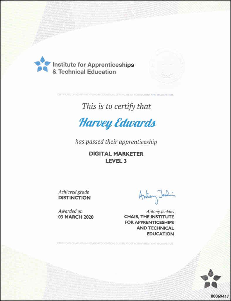 Digital Marketer Level 3 Certificate