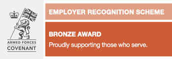 Received the bronze award from the Defence Employer Recognition Scheme (ERS)