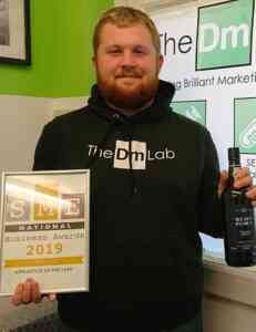 Harvey after being named a finalist at the SME National Business Awards